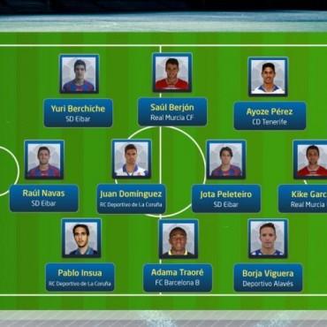 El 11 ideal de la Liga Adelante 2013/14